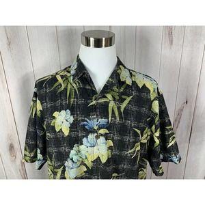 Tommy Bahama Mens Hawaiian Shirt XL Silk